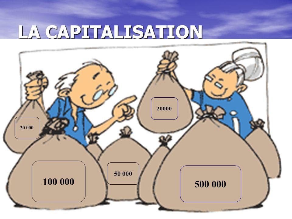 LA CAPITALISATION 20000 20 000 100 000 50 000 500 000