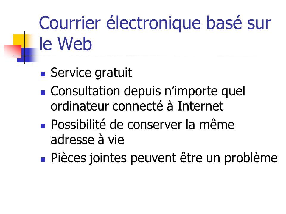 Courrier électronique basé sur le Web