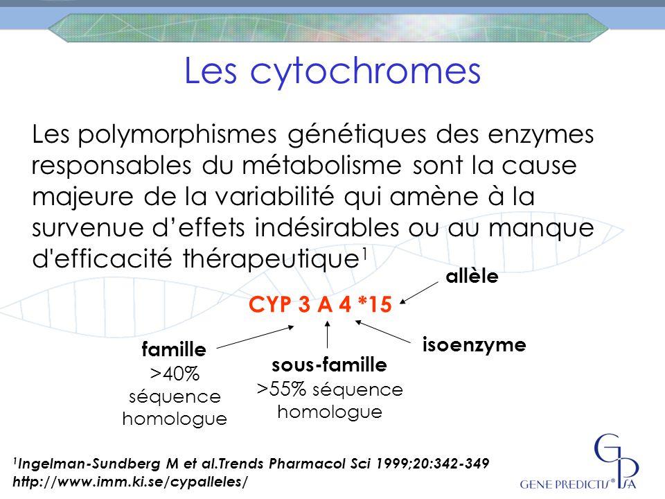 Les cytochromes