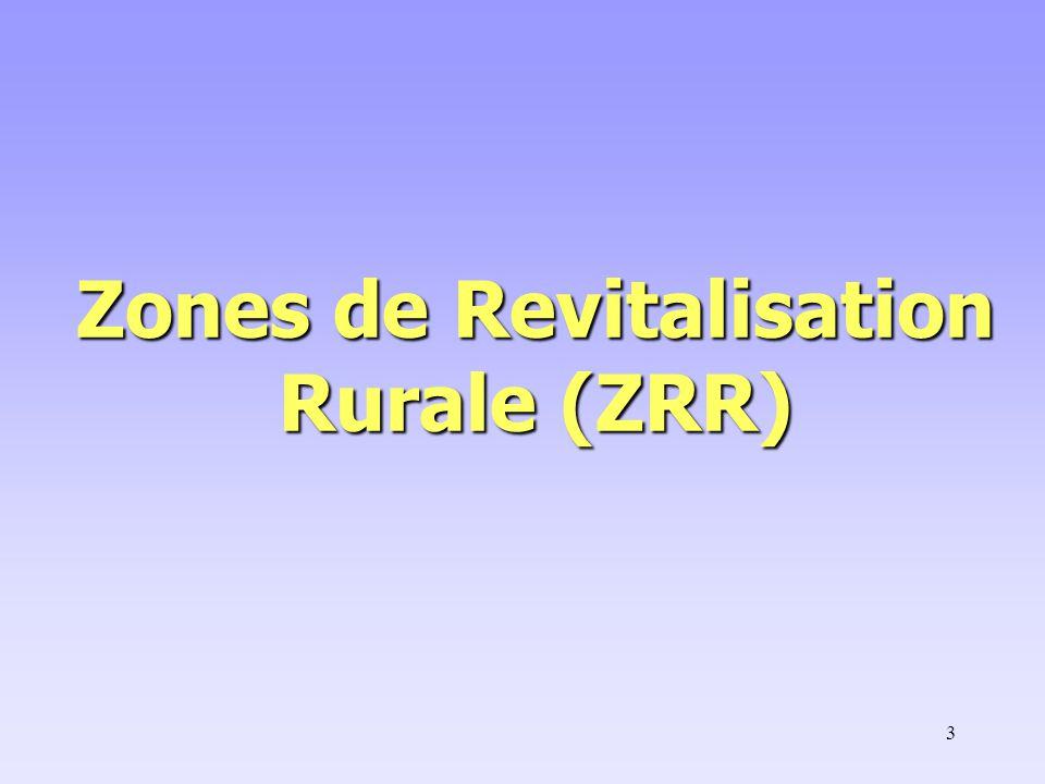Zones de Revitalisation Rurale (ZRR)