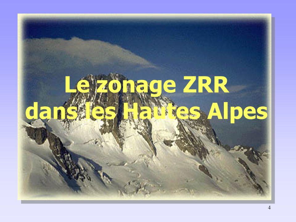 Le zonage ZRR dans les Hautes Alpes