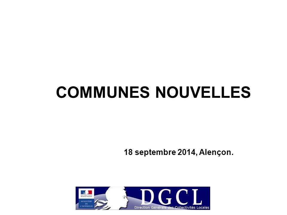 COMMUNES NOUVELLES 18 septembre 2014, Alençon.