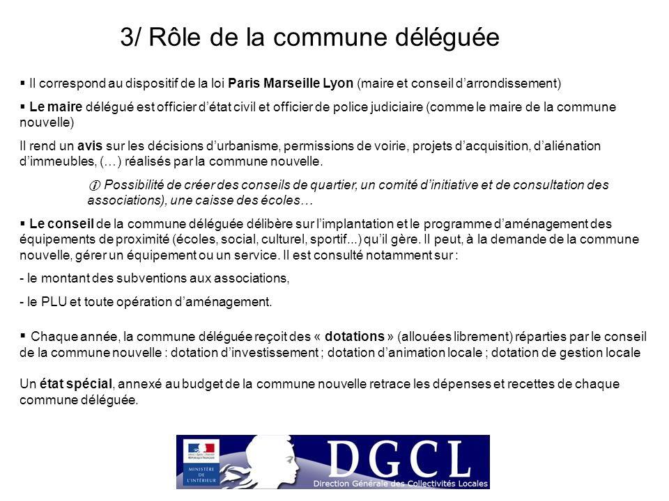 3/ Rôle de la commune déléguée