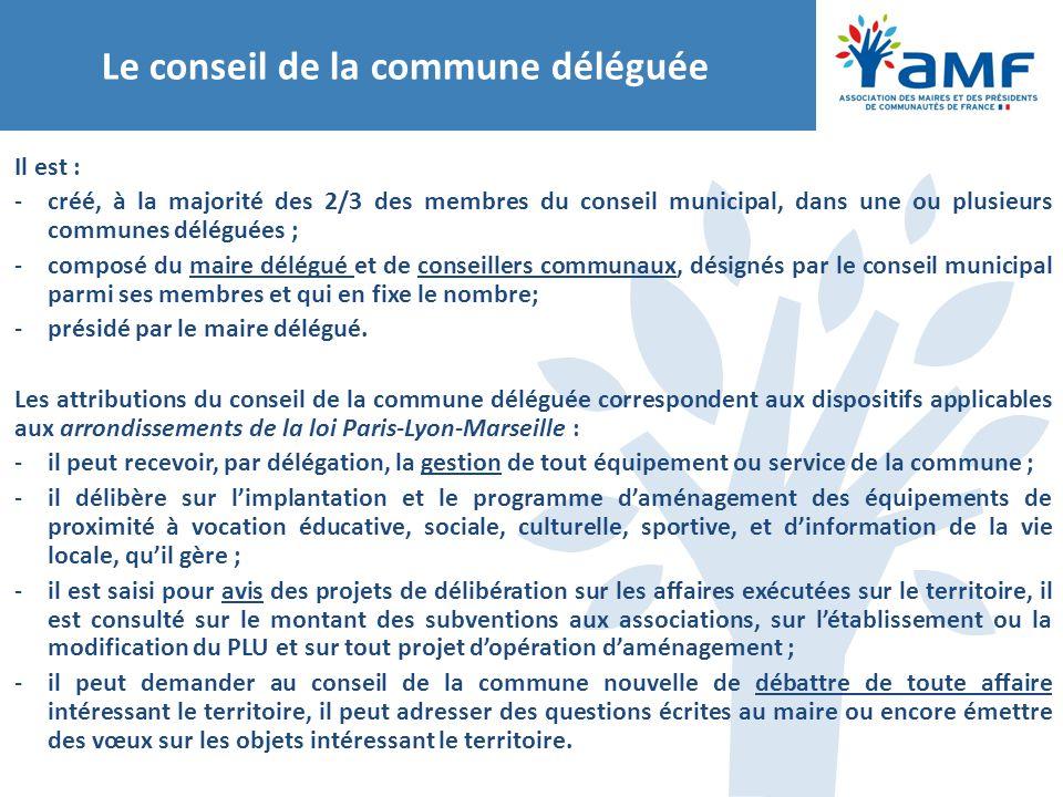 Le conseil de la commune déléguée