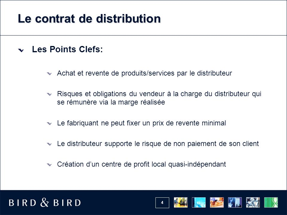 Le contrat de distribution