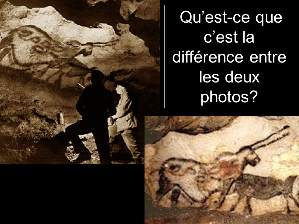 Qu'est-ce que c'est la différence entre les deux photos