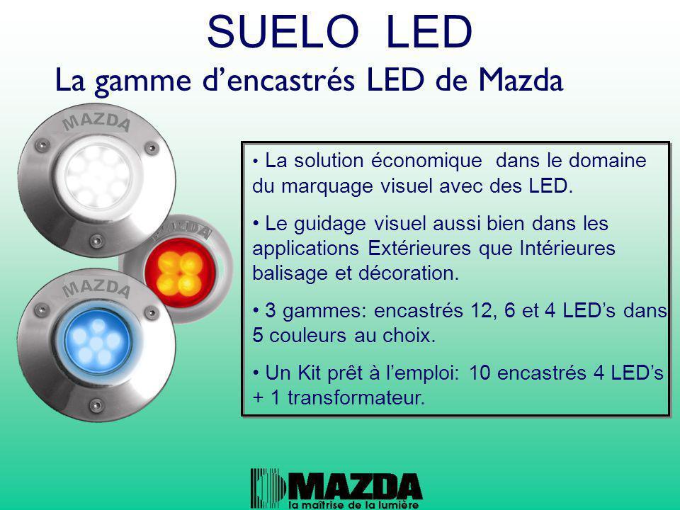 SUELO LED La gamme d'encastrés LED de Mazda