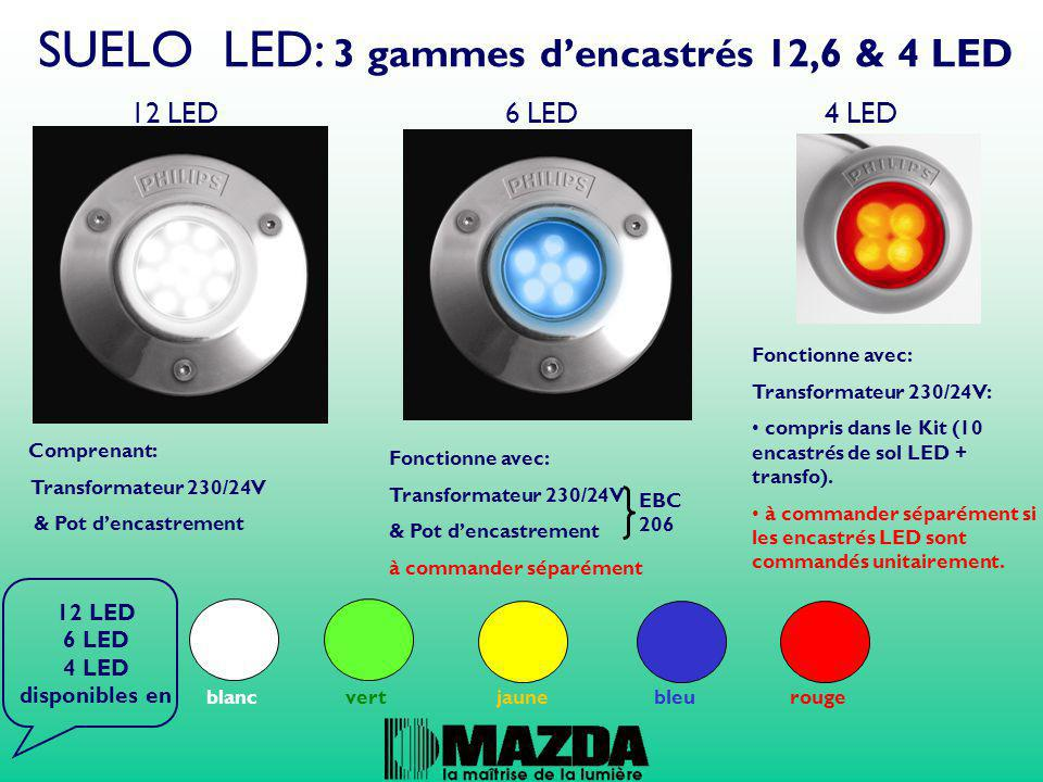 12 LED 6 LED 4 LED disponibles en