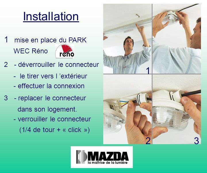 Installation 1 2 3 mise en place du PARK WEC Réno