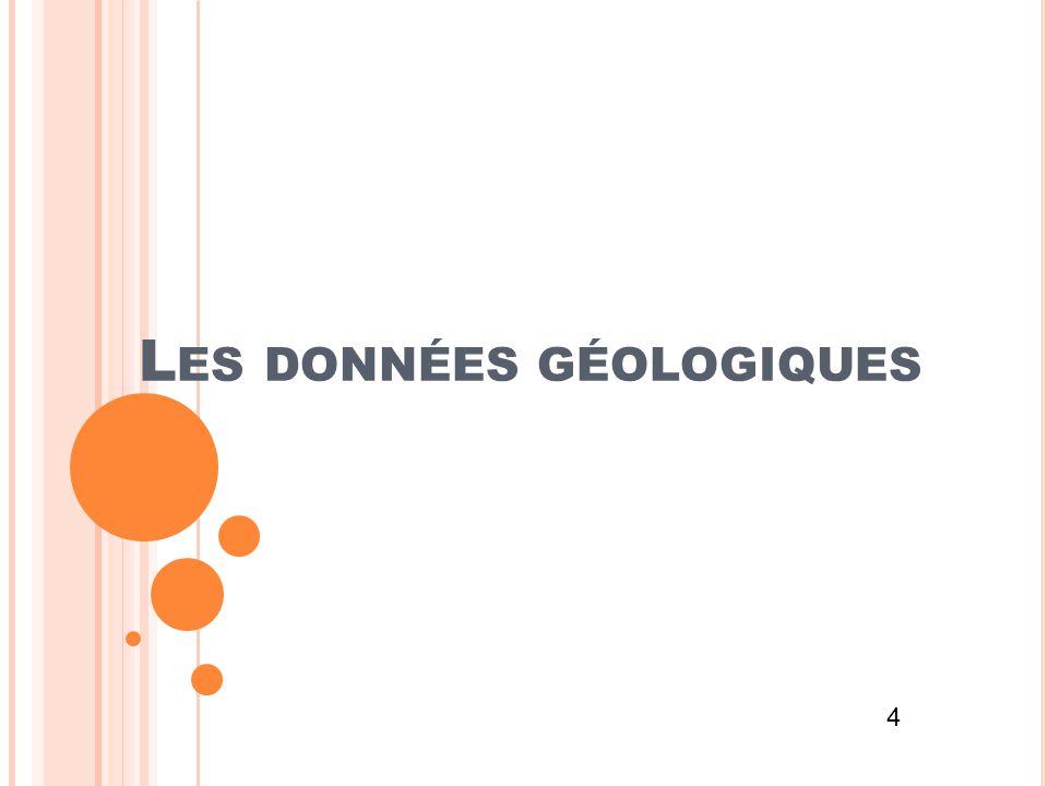 Les données géologiques