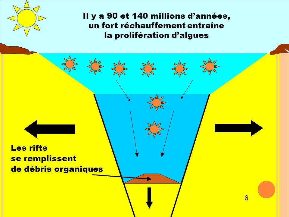 Il y a 90 et 140 millions d'années, un fort réchauffement entraîne