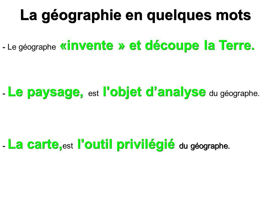 La géographie en quelques mots