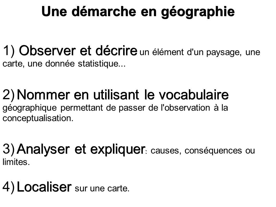 Une démarche en géographie