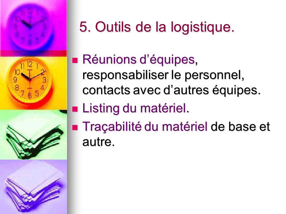 5. Outils de la logistique.