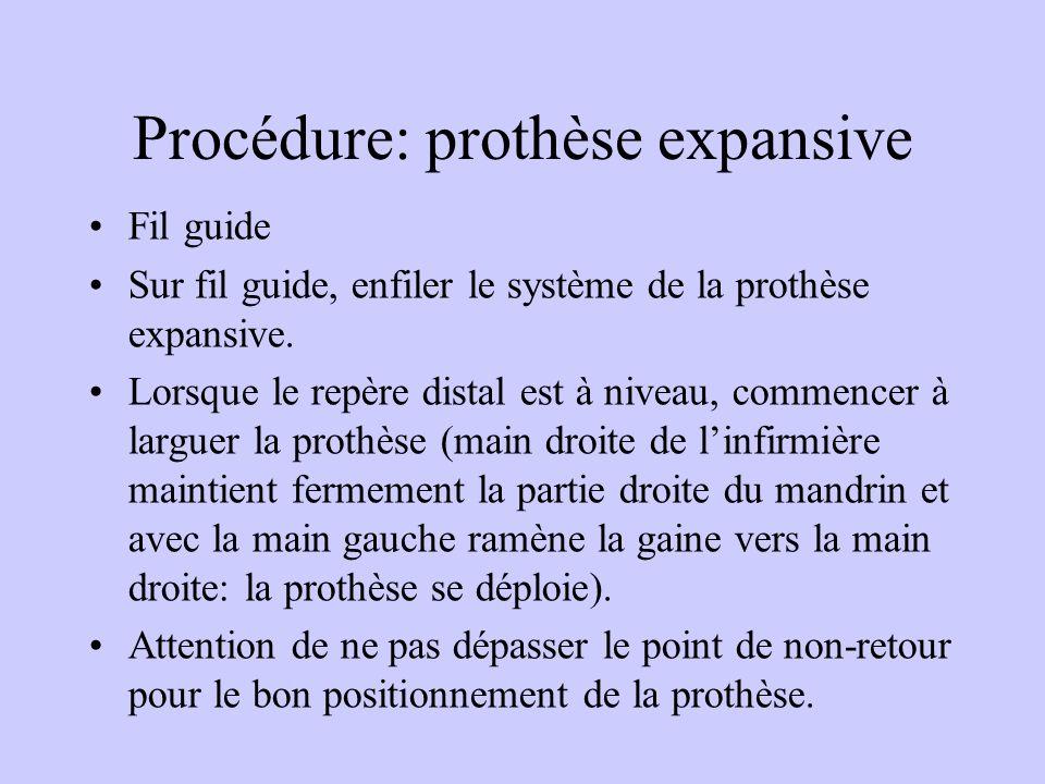 Procédure: prothèse expansive