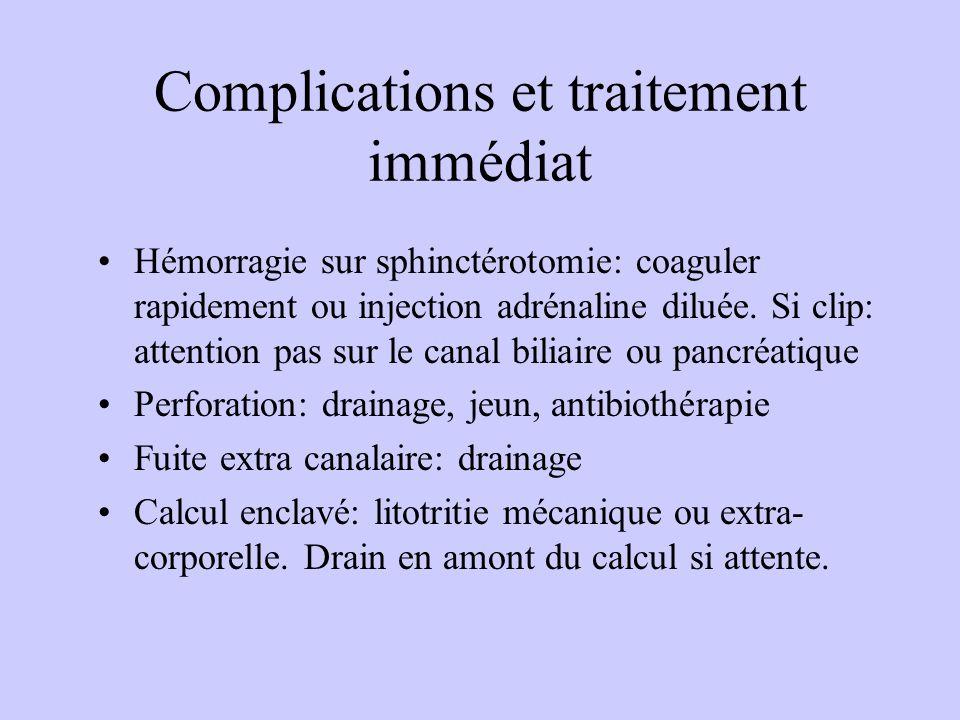 Complications et traitement immédiat