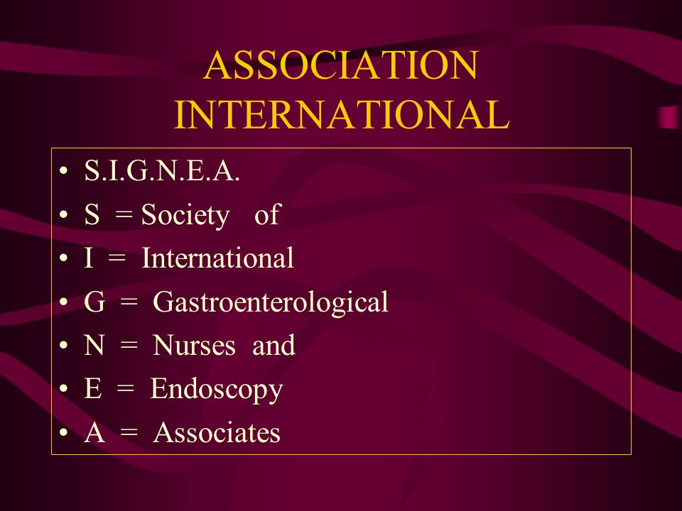 ASSOCIATION INTERNATIONAL