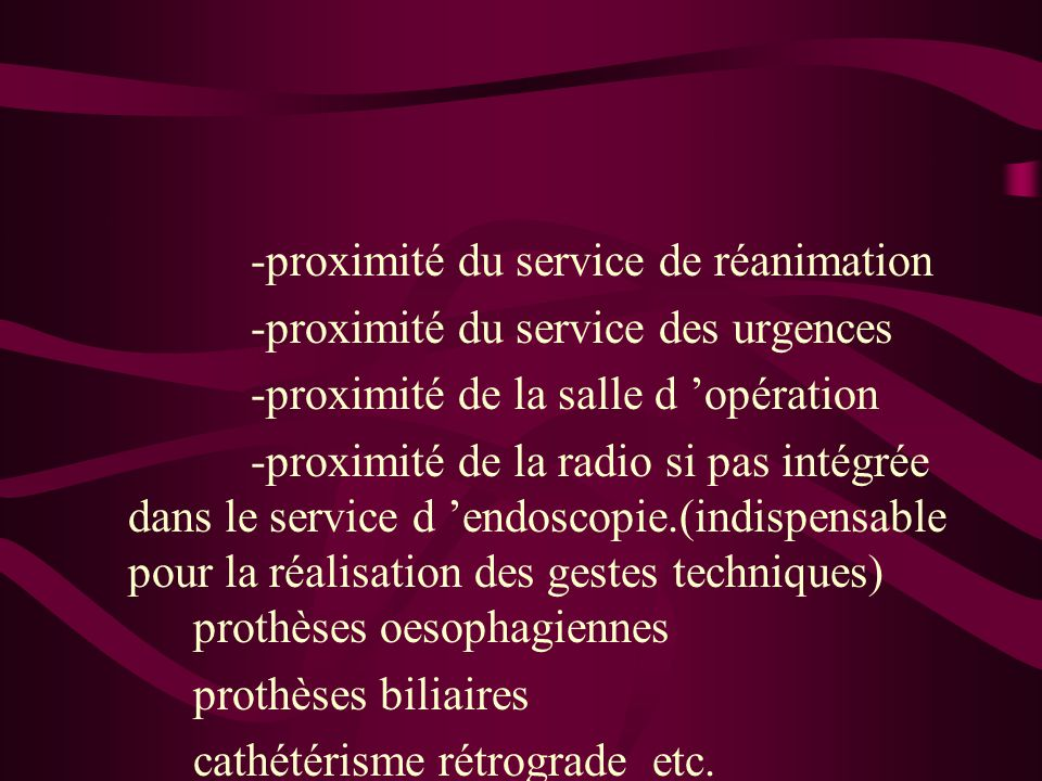 -proximité du service de réanimation