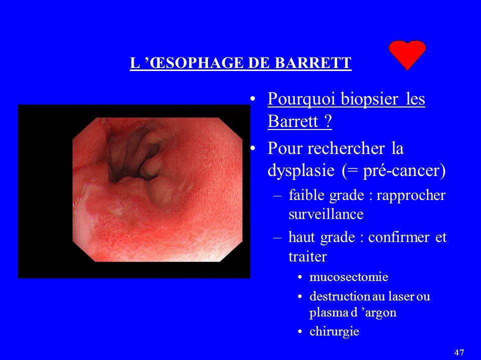Pourquoi biopsier les Barrett