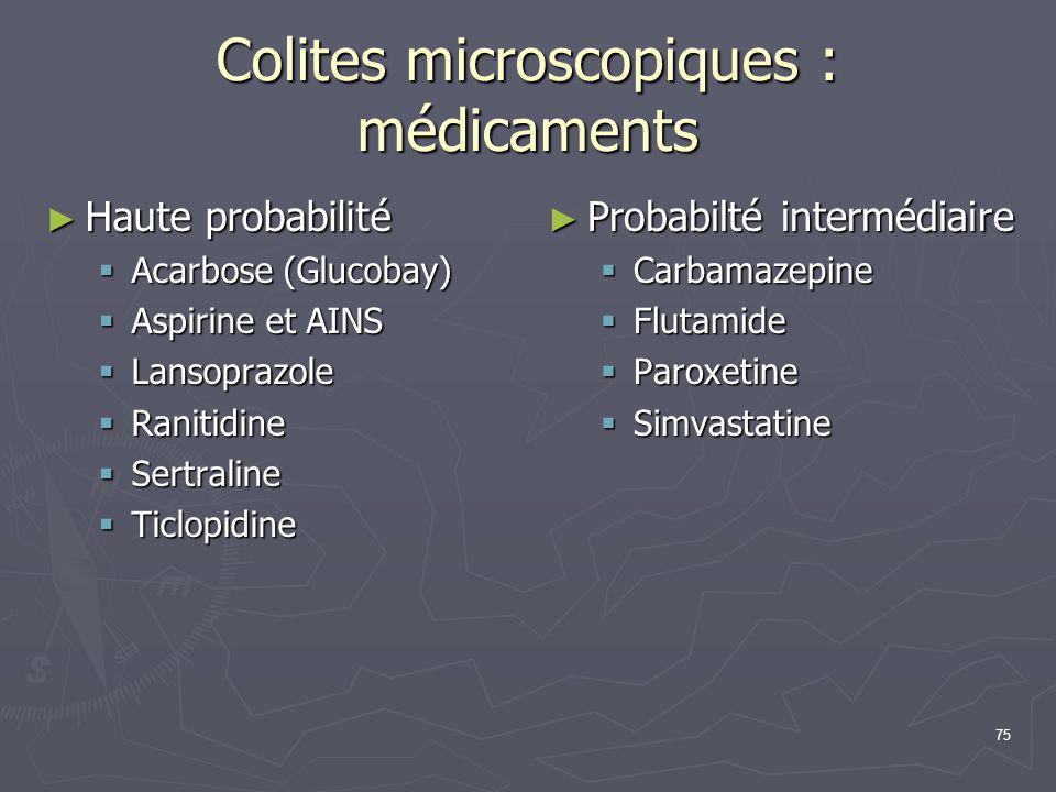 Colites microscopiques : médicaments