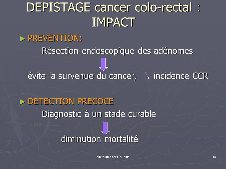 DEPISTAGE cancer colo-rectal : IMPACT