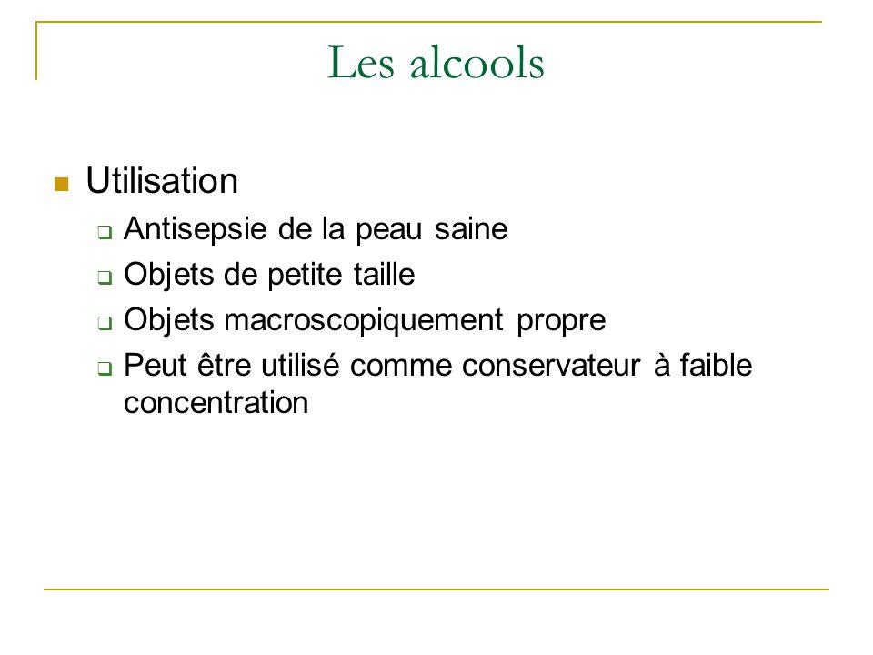 Les alcools Utilisation Antisepsie de la peau saine