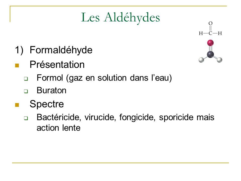 Les Aldéhydes Formaldéhyde Présentation Spectre