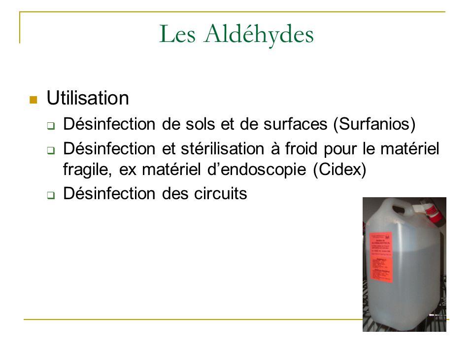 Les Aldéhydes Utilisation