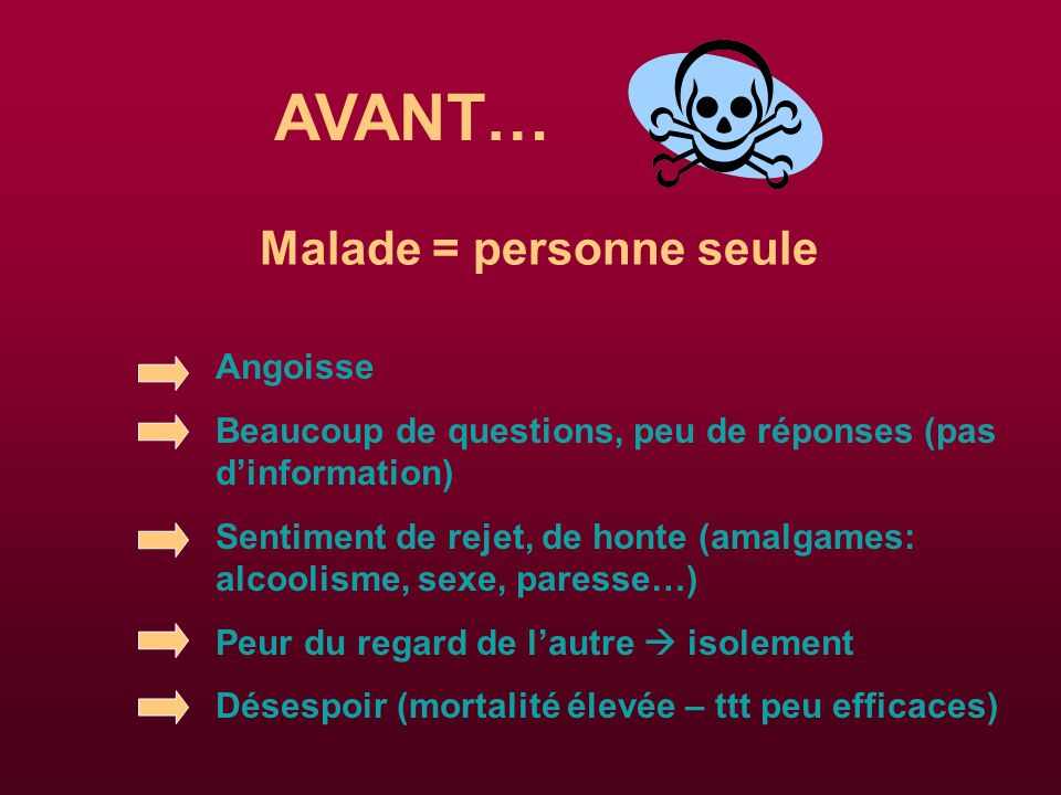 Malade = personne seule