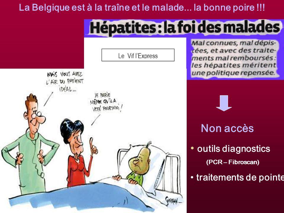 La Belgique est à la traîne et le malade... la bonne poire !!!