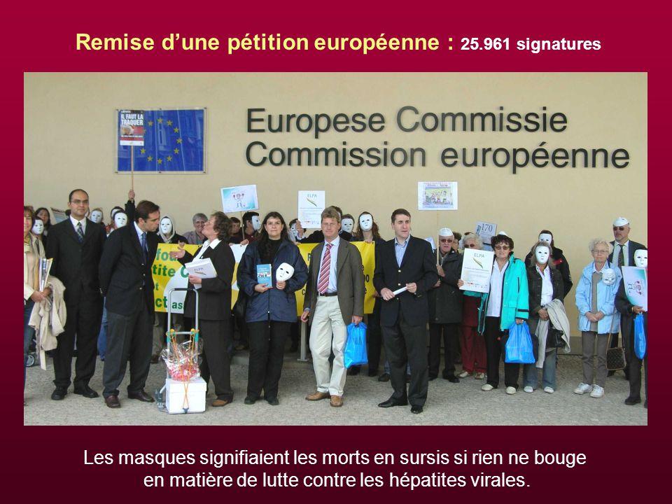 Remise d'une pétition européenne : 25.961 signatures