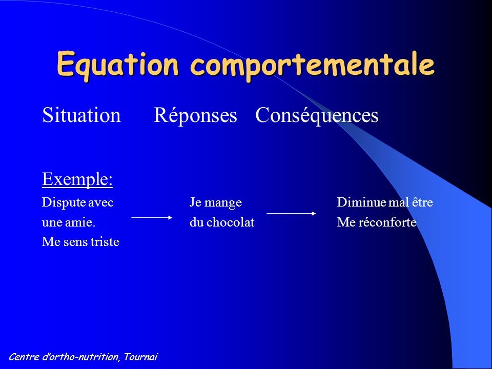 Equation comportementale