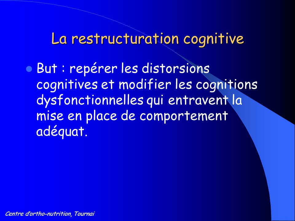 La restructuration cognitive
