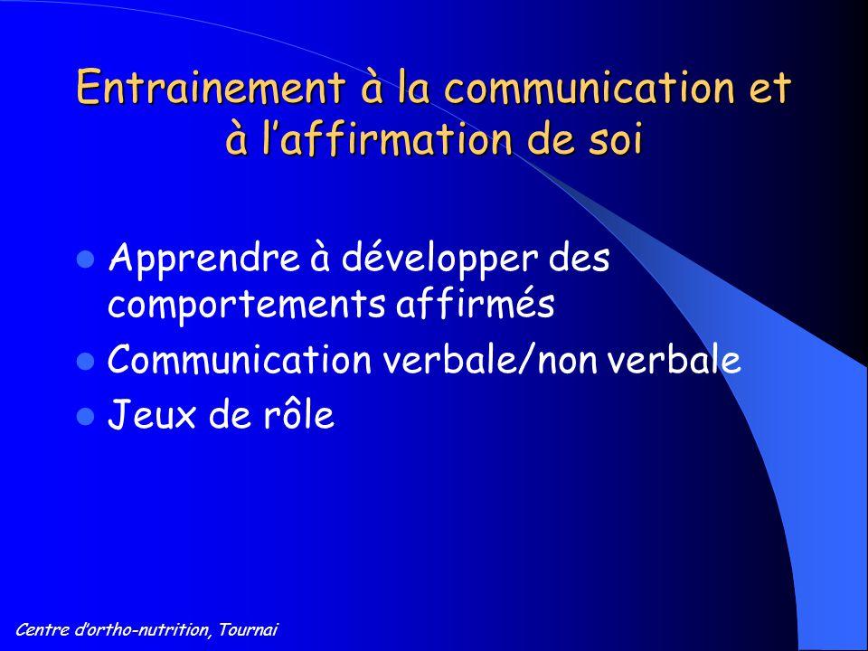 Entrainement à la communication et à l'affirmation de soi
