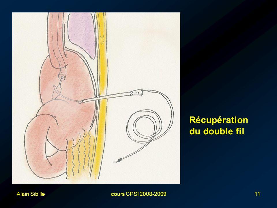 Récupération du double fil Alain Sibille cours CPSI 2008-2009