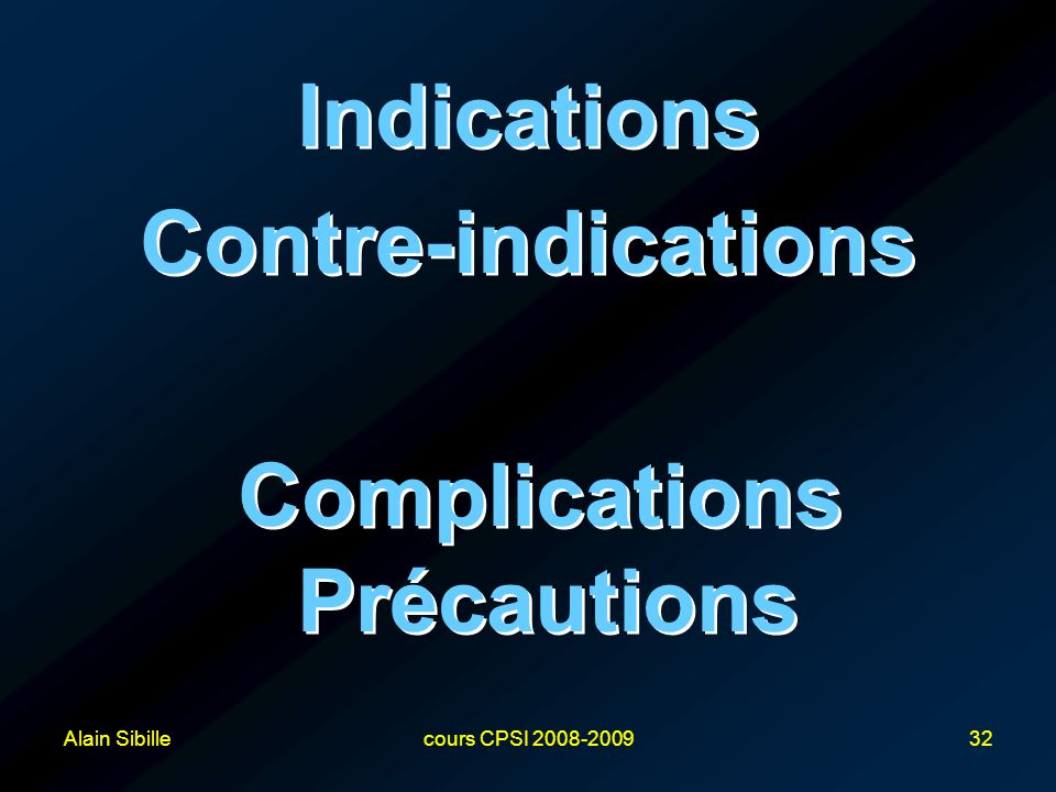 Complications Précautions