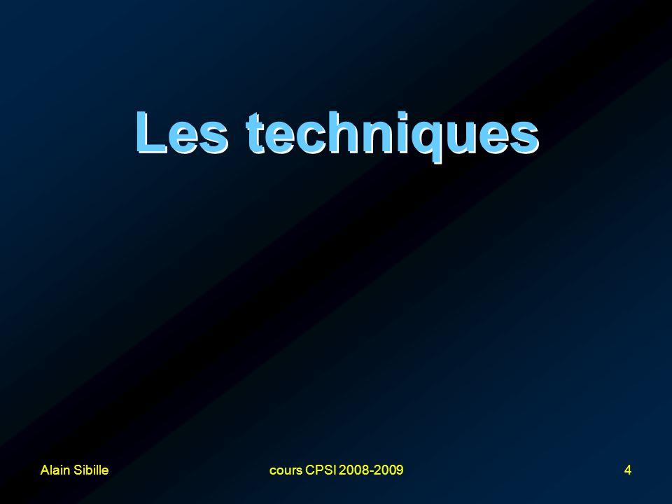 Les techniques Alain Sibille cours CPSI 2008-2009