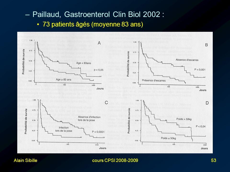 Paillaud, Gastroenterol Clin Biol 2002 :