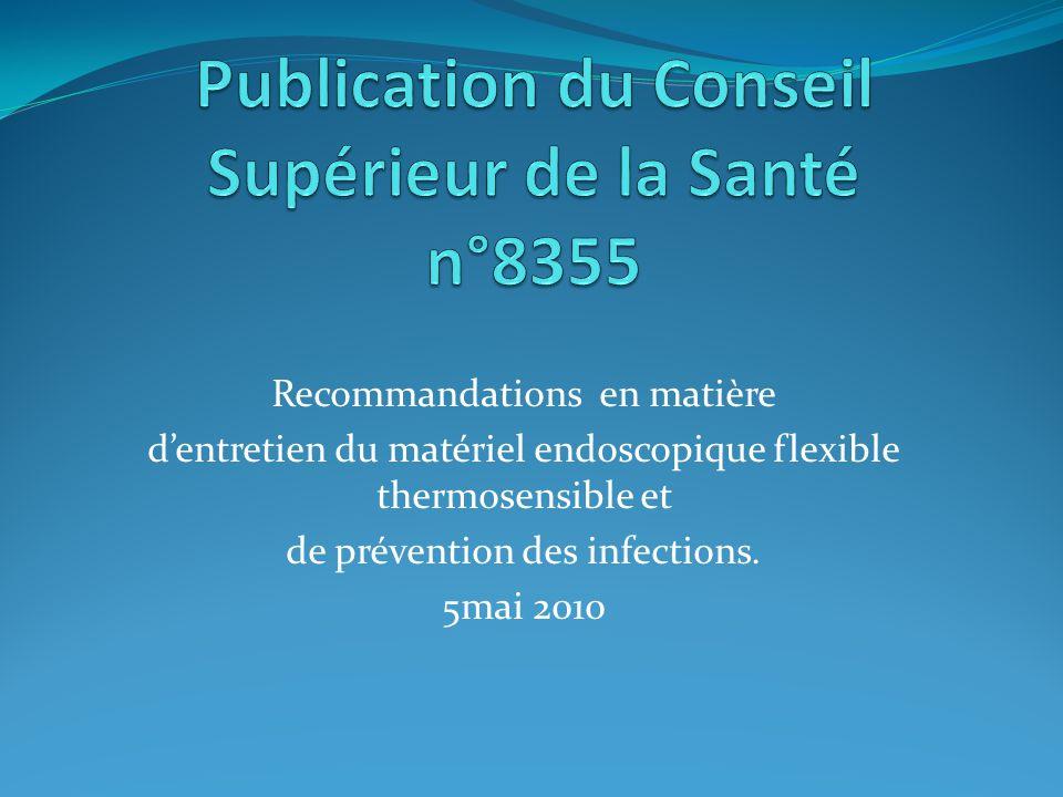 Publication du Conseil Supérieur de la Santé n°8355