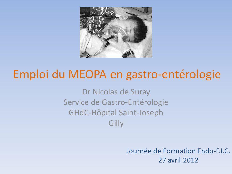 Emploi du MEOPA en gastro-entérologie