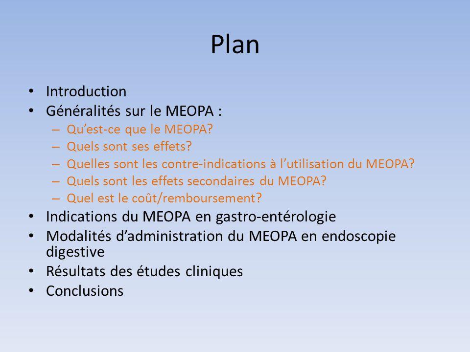 Plan Introduction Généralités sur le MEOPA :