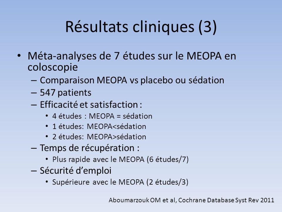 Résultats cliniques (3)