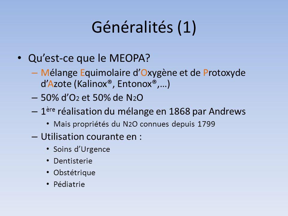 Généralités (1) Qu'est-ce que le MEOPA
