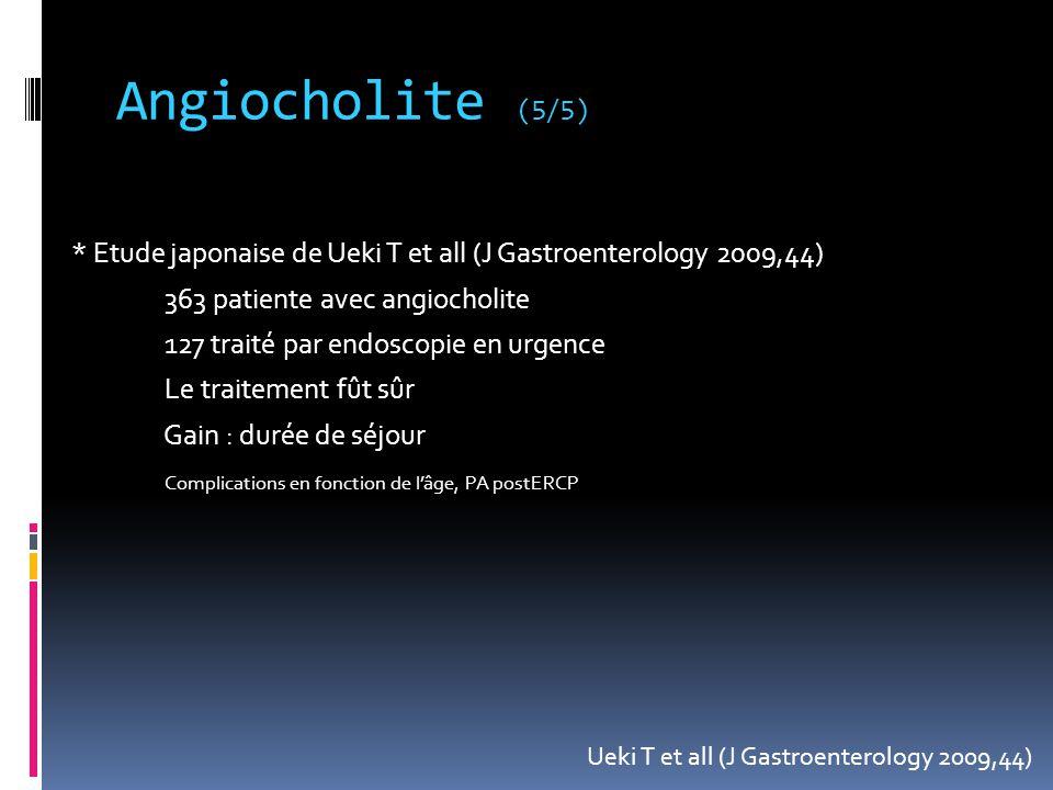 Angiocholite (5/5)