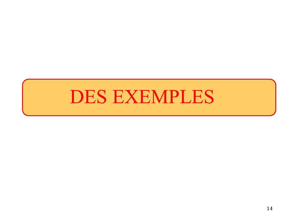 DES EXEMPLES 14