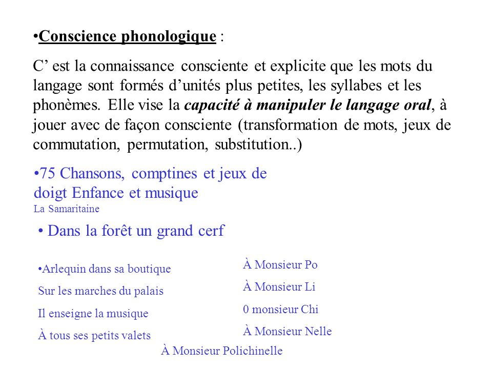 Conscience phonologique :