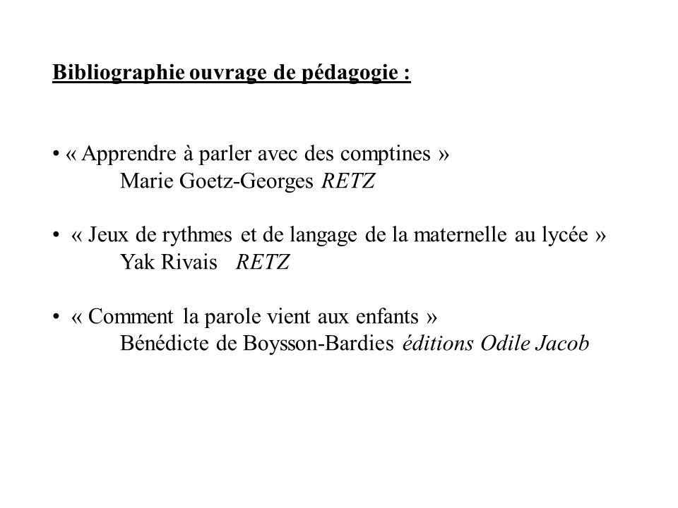 Bibliographie ouvrage de pédagogie :