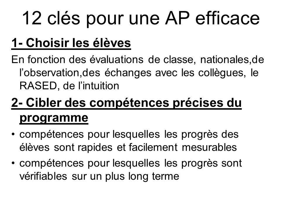 12 clés pour une AP efficace