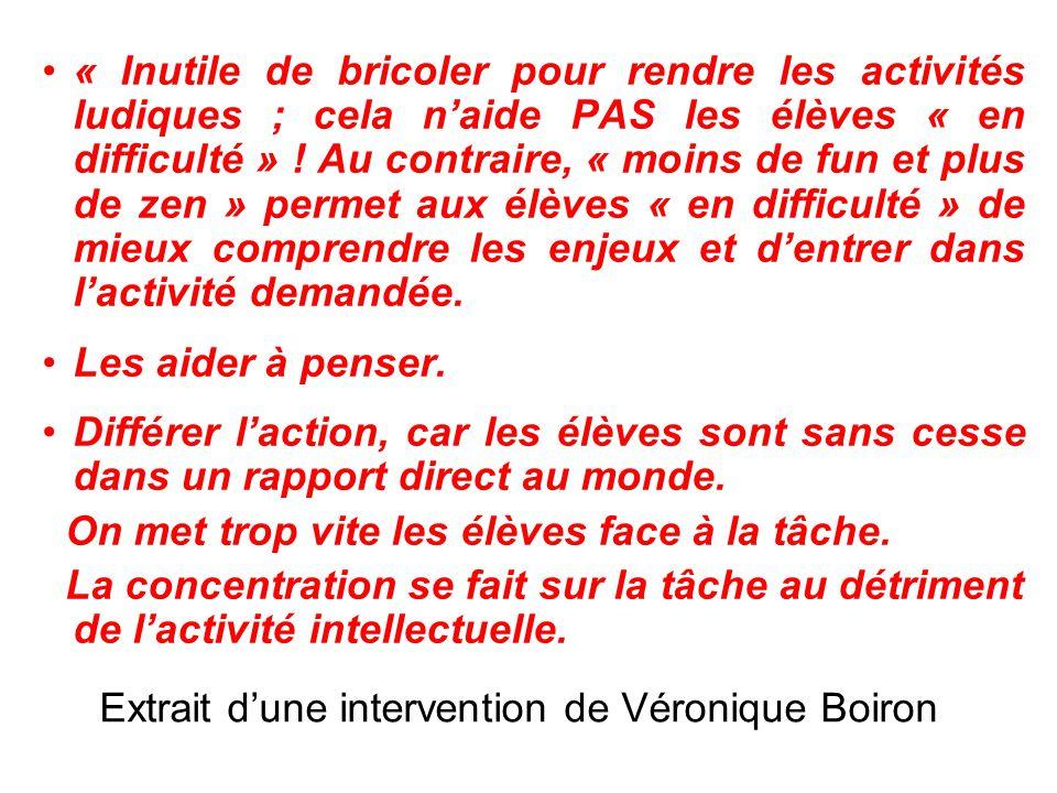 Extrait d'une intervention de Véronique Boiron