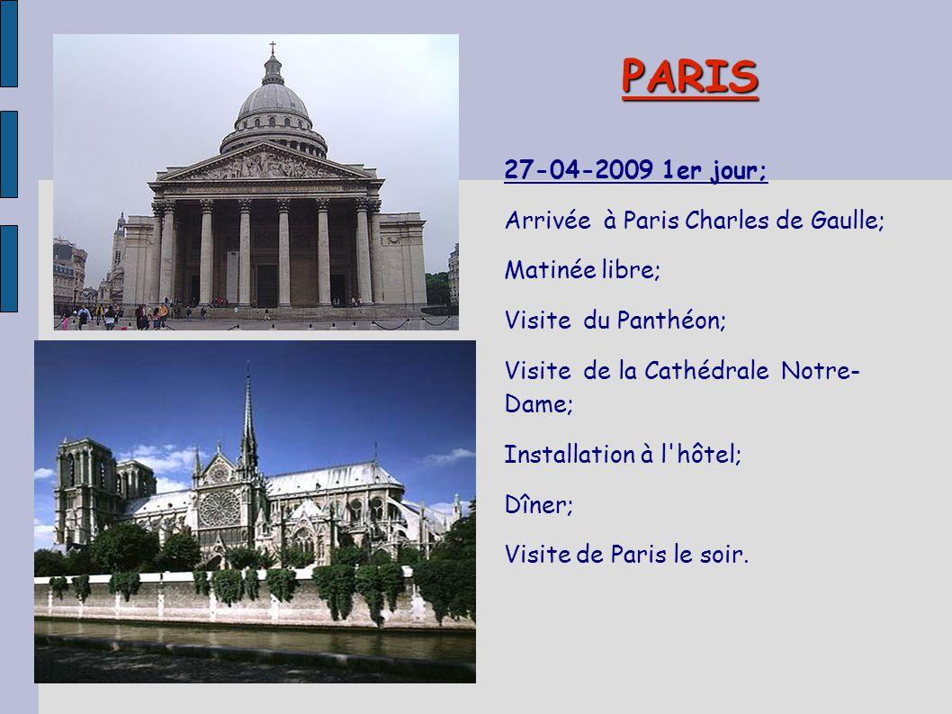 PARIS 27-04-2009 1er jour; Arrivée à Paris Charles de Gaulle;